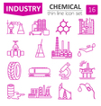 Chemical industry icon set Thin line icon design vector image vector image