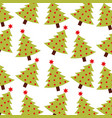 christmas green tree pine decoration celebration vector image