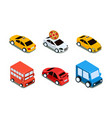 city transport set urban public and personal vector image vector image