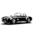 classic sport silhouette car ac shelcobra vector image vector image