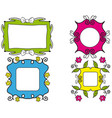 colorful frames vector image vector image