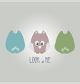 cute cartoon owls with front and back view vector image vector image