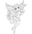 cute fairy with wings vector image vector image