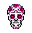 day dead skull sugar flower tattoo vector image vector image