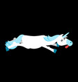 dead unicorn deadly fantastic animal with horn vector image vector image