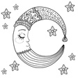 Doodle Moon for children design vector image vector image