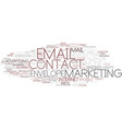 email word cloud concept vector image vector image