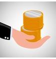 financial item design money icon flat vector image vector image