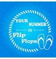 Flip flops blue background vector image vector image