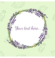 Floral frame with lavender vector image vector image
