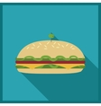 Food concept burger design vector image vector image
