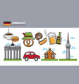german travel destination promotional poster vector image