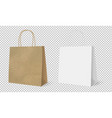 gift paper bags set isolated transparent vector image