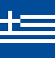 greece greek national flag correct proportion vector image