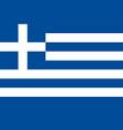 greece greek national flag correct proportion vector image vector image