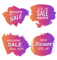 grunge colorful discount and sale labels vector image
