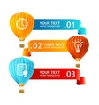 Hot air ballons option banners vector image vector image
