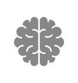 human brain gray icon healthy organ symbol vector image