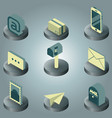 mail color isometric icons vector image vector image