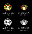 medusa logo vector image vector image