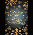 merry christmas happy new year concept greeting vector image vector image