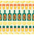 Mexican seamless pattern with tequila in native vector image