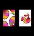modern mesh geometric pattern cover set vector image vector image