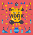 motivational workout poster vector image vector image
