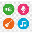 musical elements icon microphone sound speaker vector image