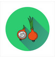 onion simple icon on white background vector image vector image