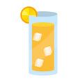 orange juice cup vector image vector image