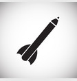 pencil rocket on white background vector image