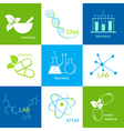 Pharmaceutical and lab icons vector image vector image