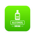 quality alcohol icon green vector image vector image