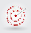 red target with arrow vector image