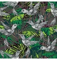 Seamless exotic pattern with abstract palm leaves