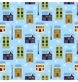 seamless houses vector image vector image