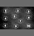 set figures on a chalkboard different for your vector image vector image