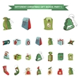 Set of different Christmas gift boxes isolated on vector image vector image