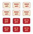 set of price tags labels with promotional offers vector image vector image