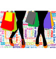 Shopping template vector image