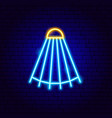 shuttlecock neon sign vector image vector image