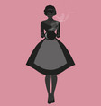 silhouette housewife dressed in style of vector image vector image