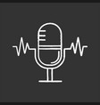 speech recognition chalk icon vector image
