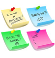Sticky note options vector image vector image