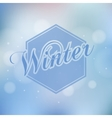 Stylish Winter seasonal card design vector image