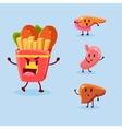 Unhealthy Food Danger Set vector image vector image