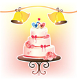 wedding cakevec vector image vector image
