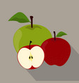 apples isolated apples icon vector image