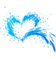Aqua splash heart vector image